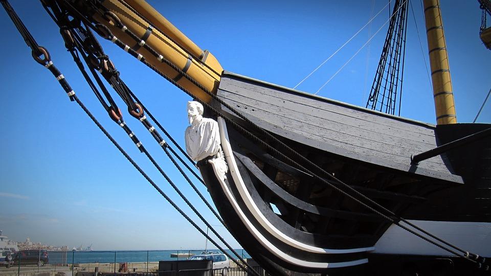 Sailing Vessel, Galionsfigur, Ship, Historically, Stem