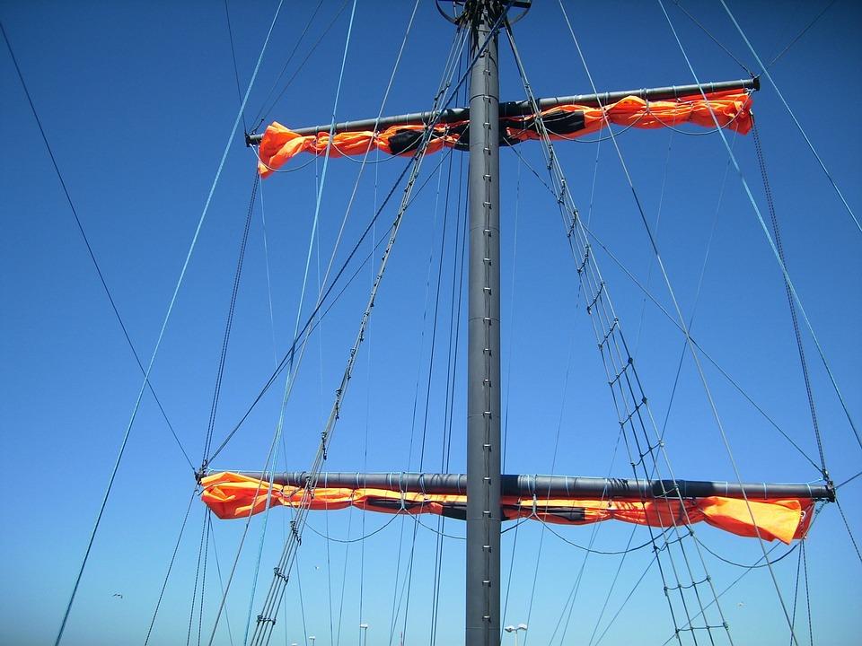 Rigging, Sail, Ship, Sailing Vessel, Mast, Sea
