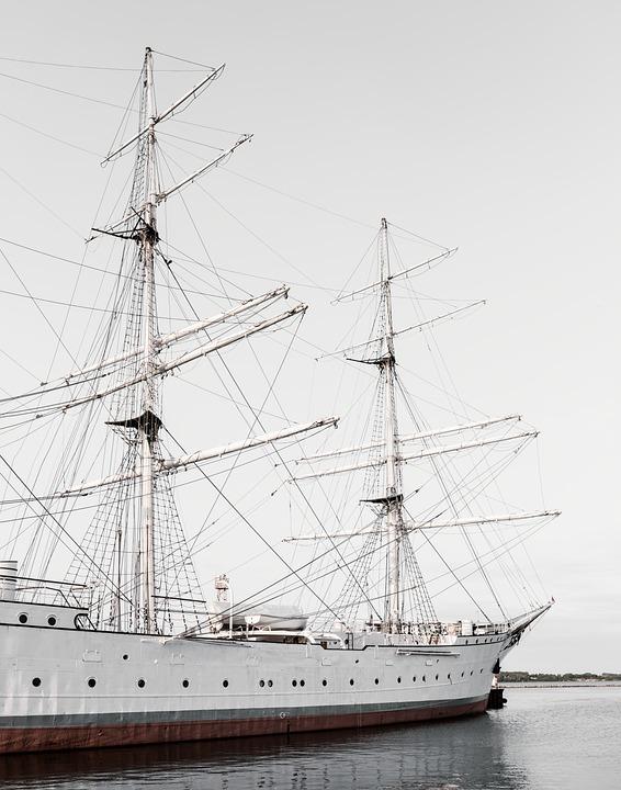 Gorch Fock, Ship, Sailing Vessel, Stralsund, Port