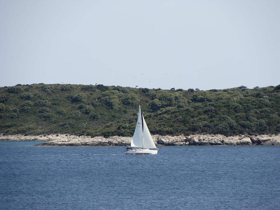 Sail Boat, Boat, Ship, Water, Sea, Sailing, Island