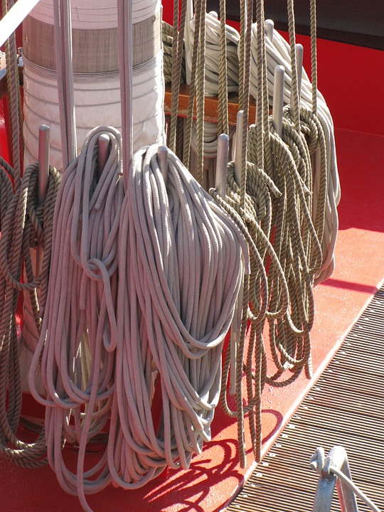 Mast, Boat, Sail, Sailboat, Mooring Rope, Knot, Sailor
