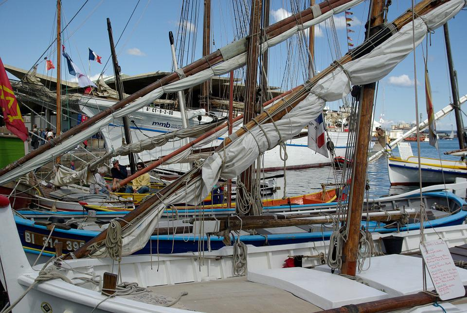 Boat, Sails, Sailboats, Port, Mediterranean