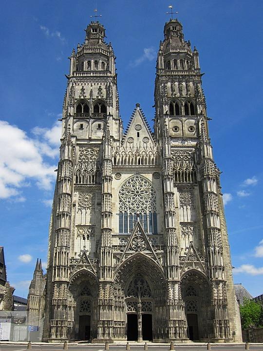 Saint Gatien Cathedral, Gothic, Tours, Indre-et-loire