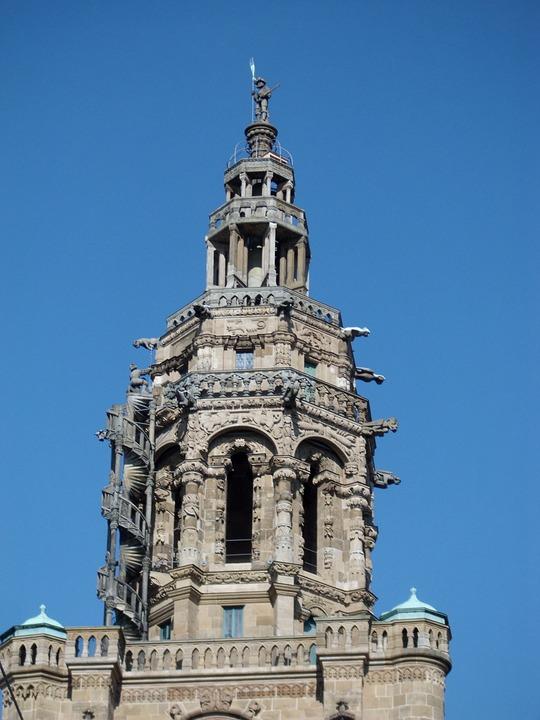 Tower, Saint Kilian's Church, Heilbronn, Kiliansmaennle