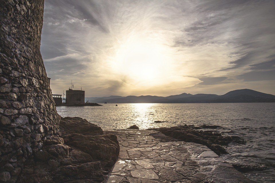 Saint, Tropez, France, Sea, Sunset, Riviera