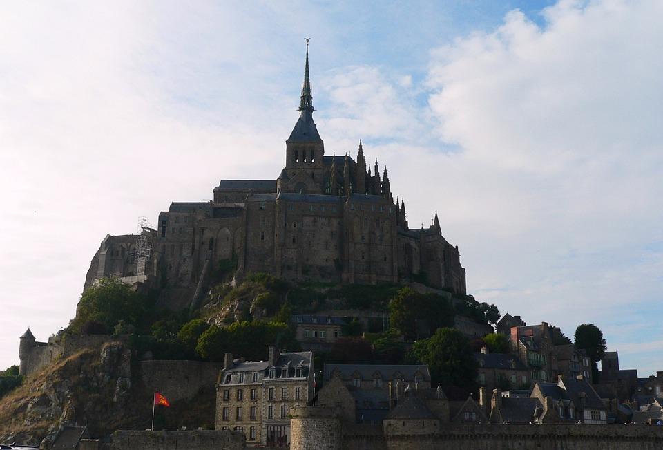 Mont, Saint-michel, Normandy, Abbey, Island, France