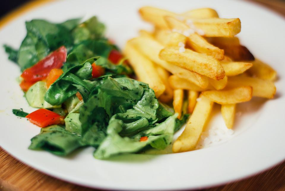 Food, Salad, French Fries, Vegetables, Lunch, Dinner