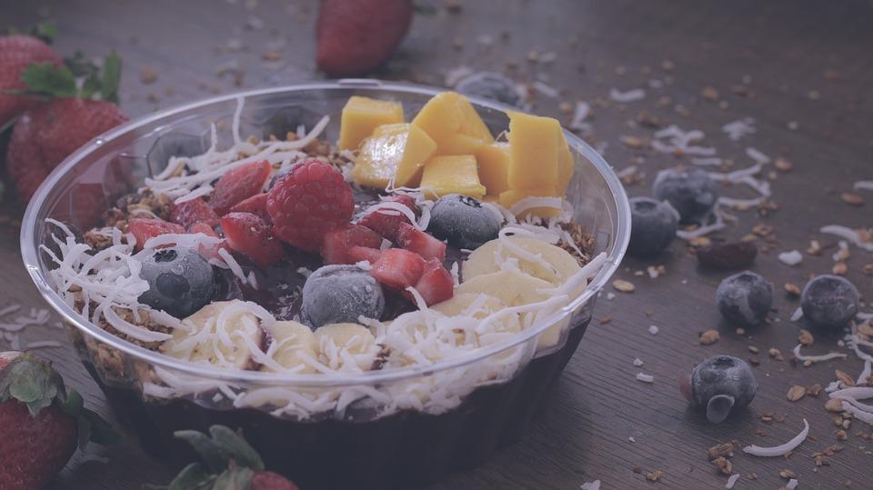 Fruit, Salad, Food, Desserts, Sweets, Blueberry