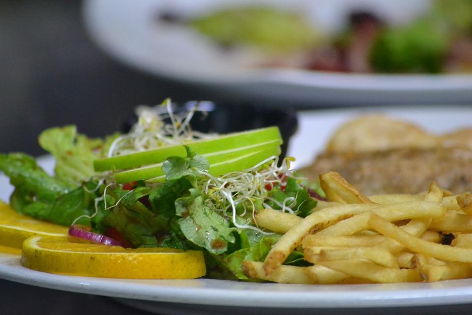 Potatos, Salad, Food, Restaurant, Dish, Saucer, Rico