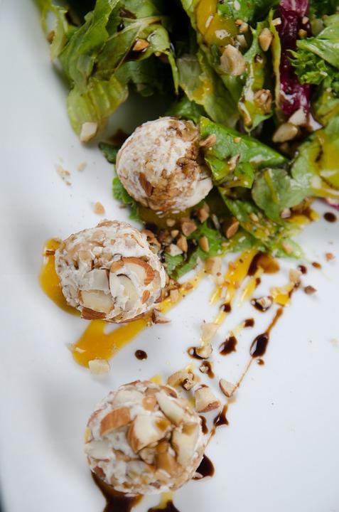 Salad, Sauces, Almonds, Gastronomy, Healthy Food