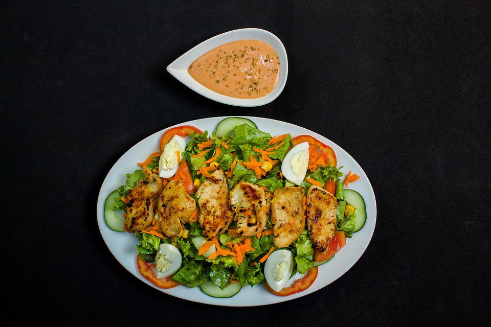 Lunch, Chicken, Meal, Delicious, Salad, Tasty, Dinner
