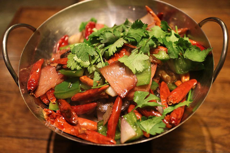 Food, Salad, Spicy, Pan, Hot, Cooking, Meal, Pepper