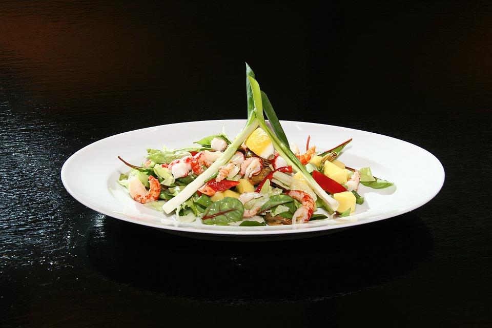 Salad, Food, Dining, Spring Onions, Mixed Salad