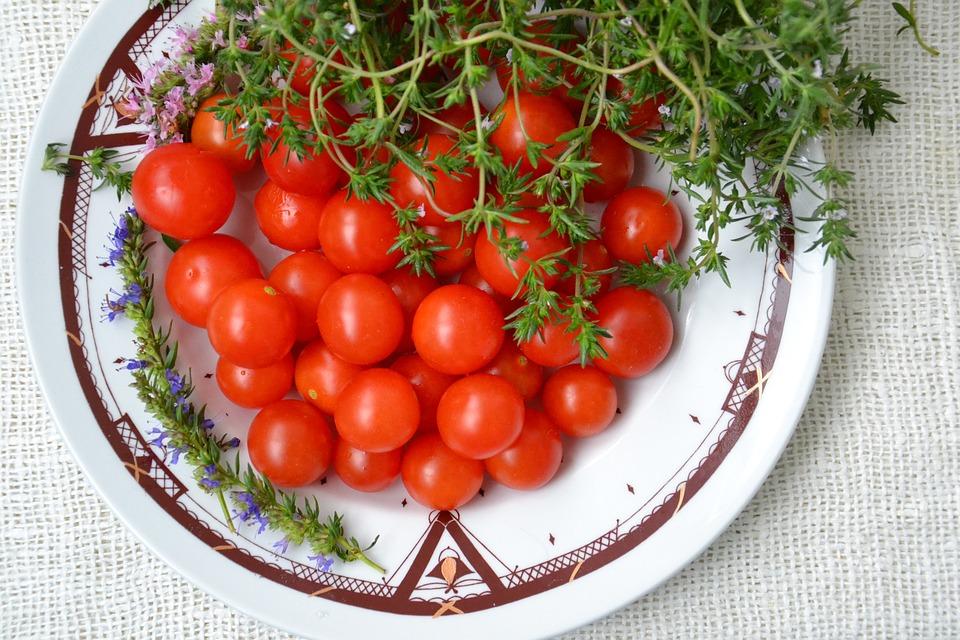 Tomatoes, Small, Vegetables, Salad, Harvesting, Food