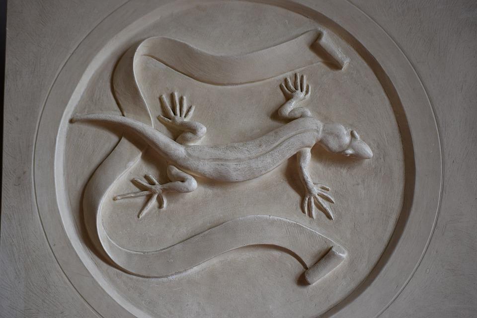 Bas Relief, Icon, Salamander, Mantova, Lombardy, Italy