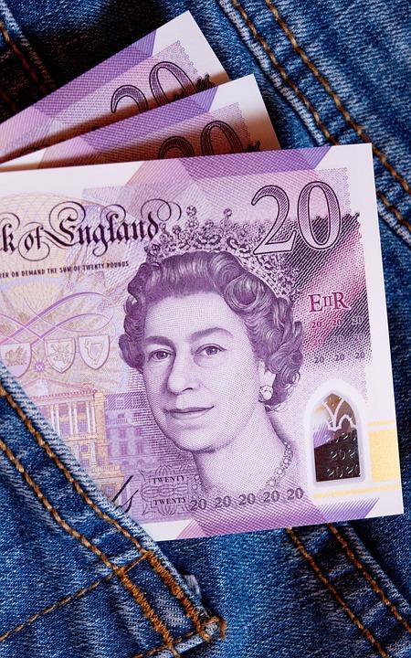 Pound, Twenty, Money, Salary, Cash, Business, Queen