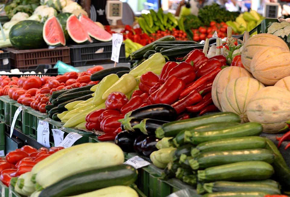The Market Place, Vegetables, Sale, Market, Stand