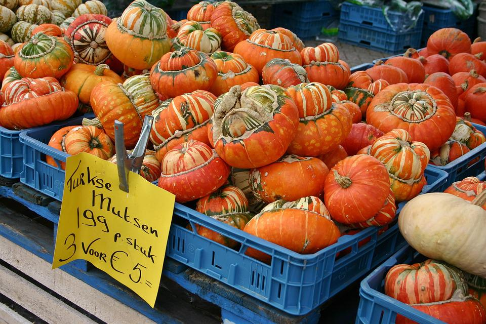 Pumpkin, Pumpkins, Sale, Nature, Vegetables, Food