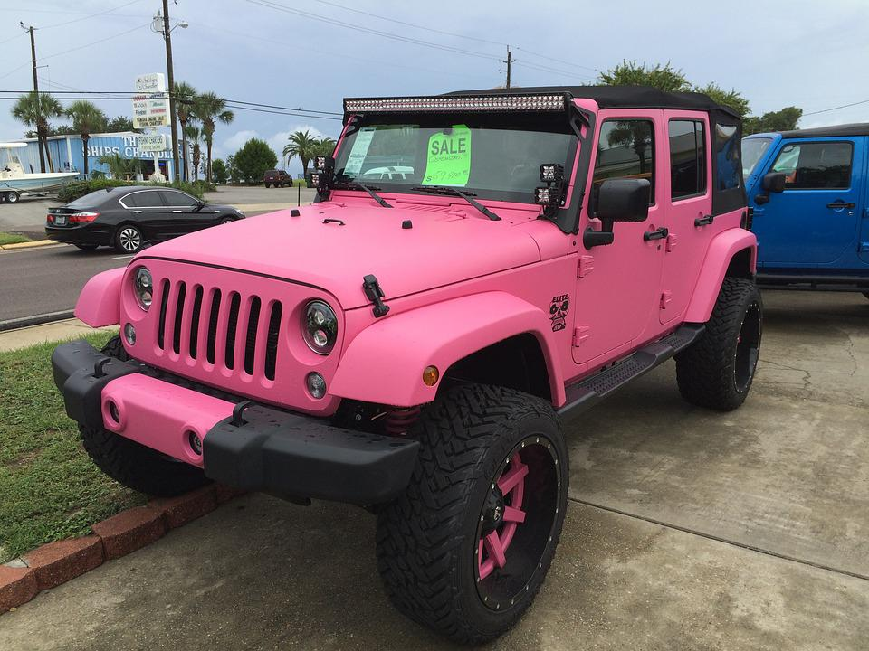 Jeep, Sport, Truck, Pink, Girly, Car, Rent, Sale