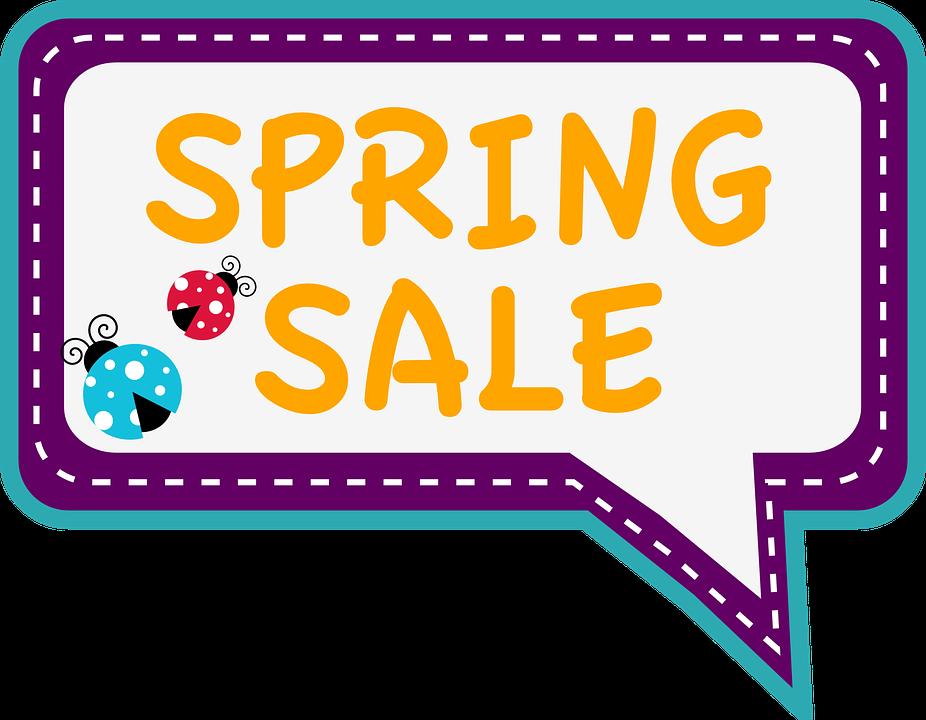 Sale, Spring, Ladybug, Bubble, Tag