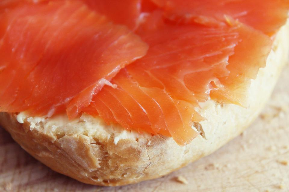 Roll, Salmon, Breakfast, Buffet, Salmon Bun, Delicious