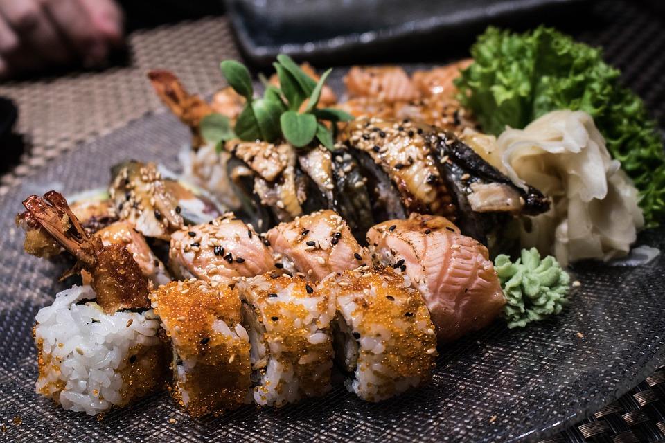 Food, Rice, Japan, Fish, Seafood, Delicious, Salmon
