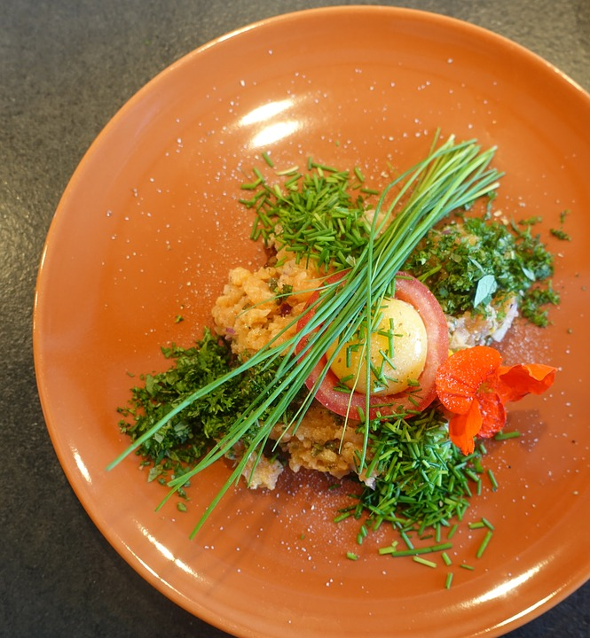 Salmon, Herbs, Chives, Yolk, Tatar, Raw Egg Yolk