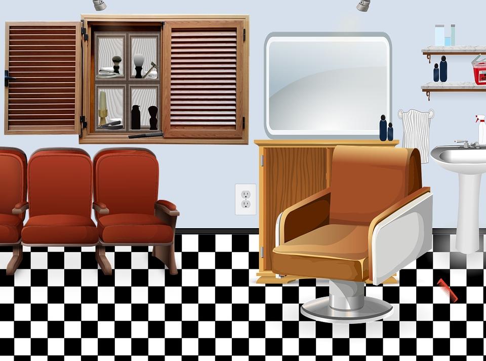 Salon, Barbershop, Barber, Hair, Shop, Male