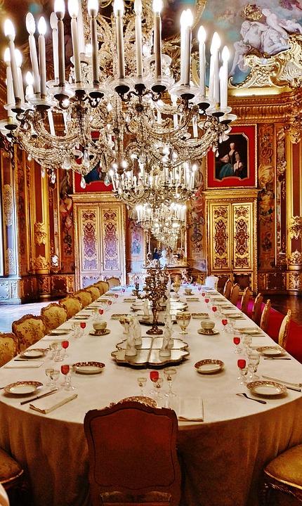 Palazzo, Real, Salon, Chandelier, Art, Savoy