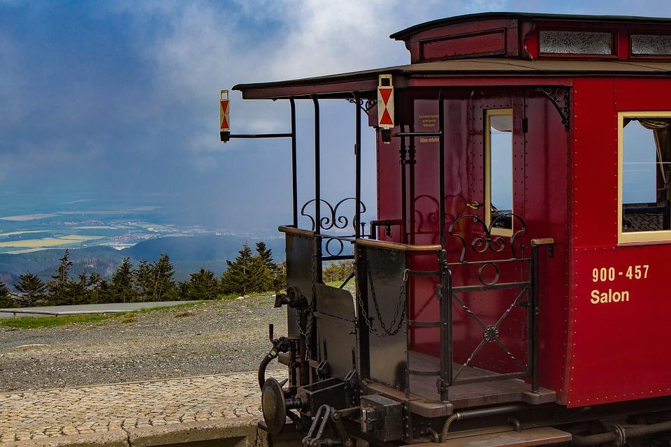 Wagon, Salon Trolley, Railway, Tail Light, Platform