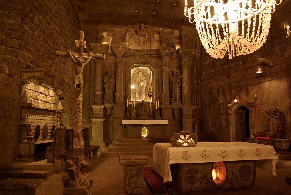 Wieliczka, Salt Mine, Underground, Altar, Salt