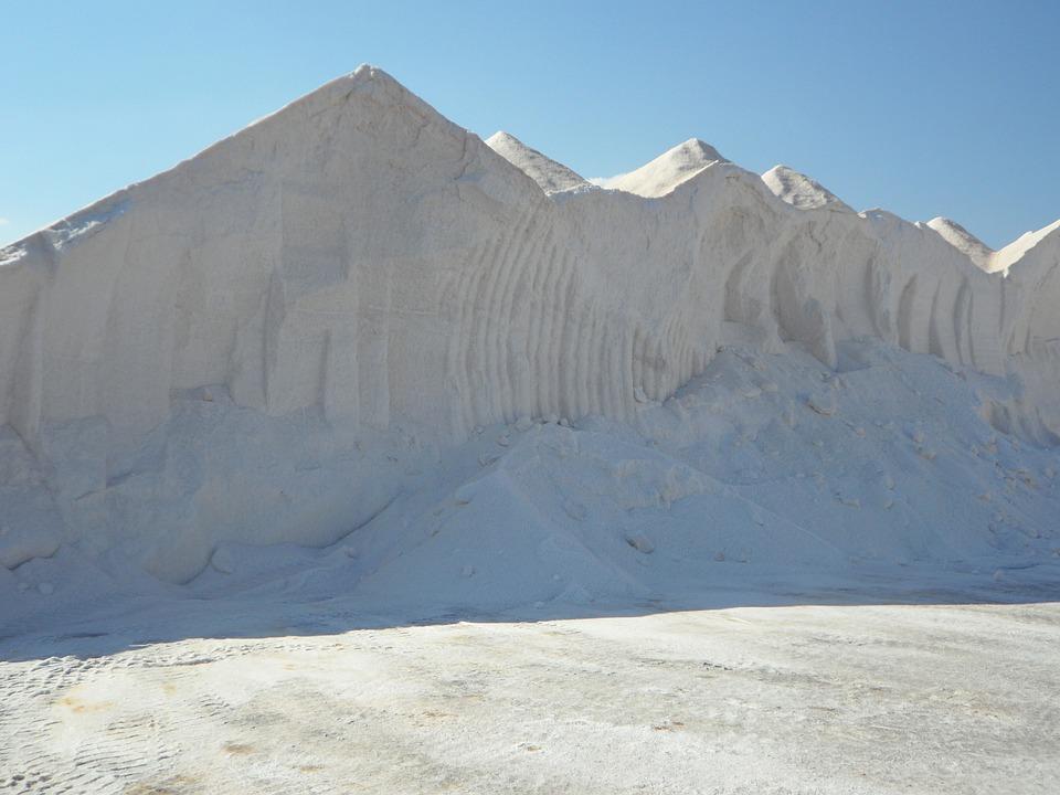 Salt, Salzberg, Salt Mountain, White, Salt Pans