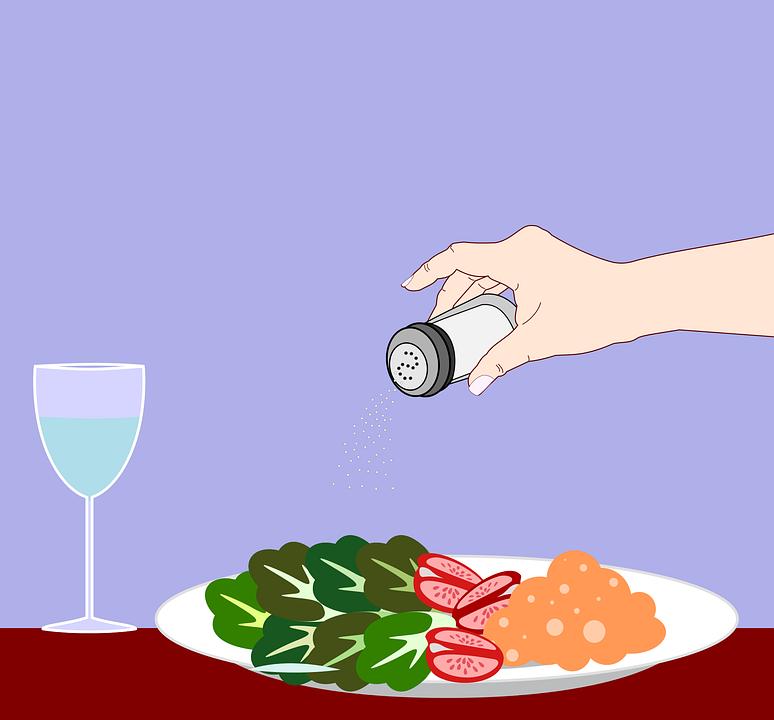 Salt, Salt Shaker, Salad, Condiments, Hand