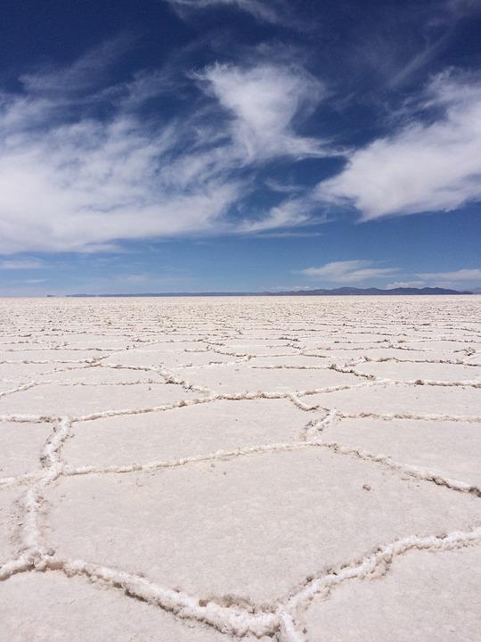 Sky, Blue Sky, Uyuni Salt Lake, Salt