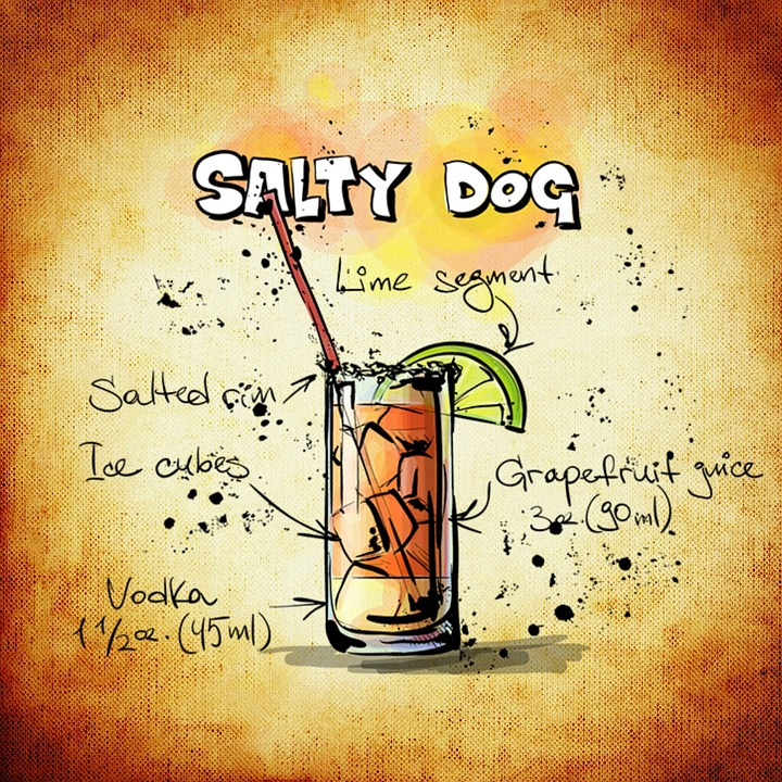 Salty Dog, Cocktail, Drink, Alcohol, Recipe, Party