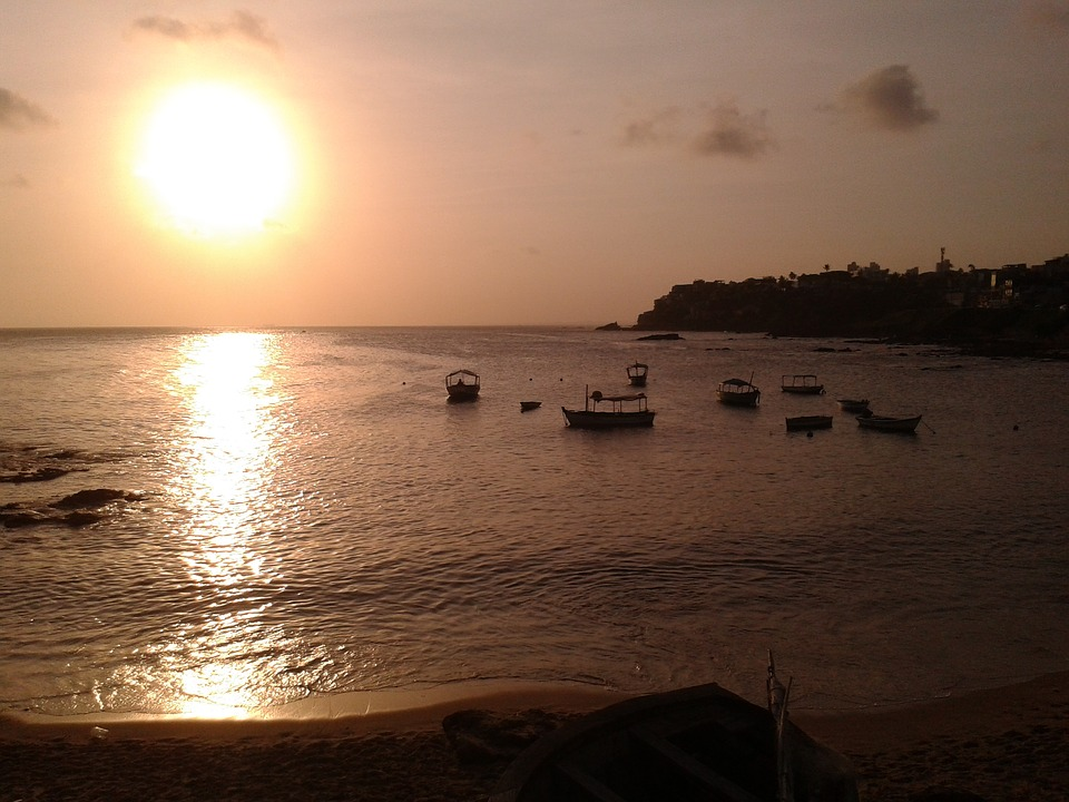 Sunset, Nature, Mar, Red River, Salvador