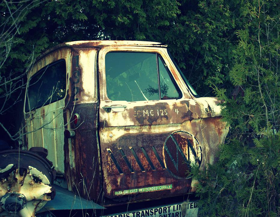 Free photo Salvage Yard Truck Car Old Wreck Broken Vintage - Max Pixel