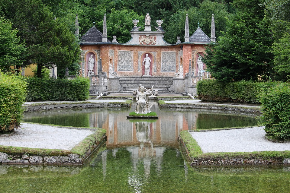 Salzburg, Hellbrunn-castle, Castle, Water Games