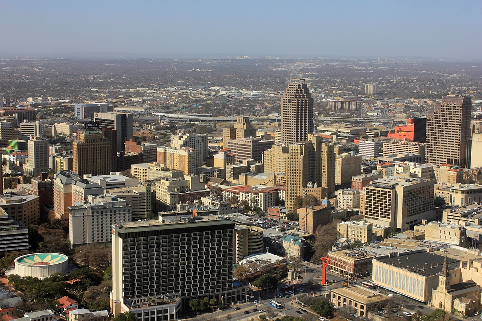 San Antonio, City, Cityscape, Skyscrapers, High Rises