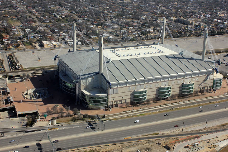 San Antonio, Texas, Town, Buildings, Usa, Stadium
