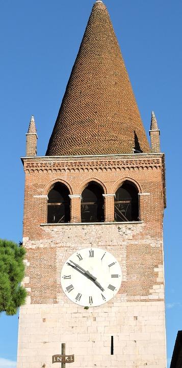 Campanile, Abbey, Villanova, San Bonifacio, Veneto