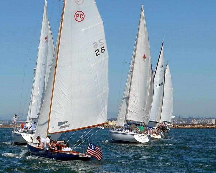 Sea, Ocean, Water, San Diego, California, Sailboats