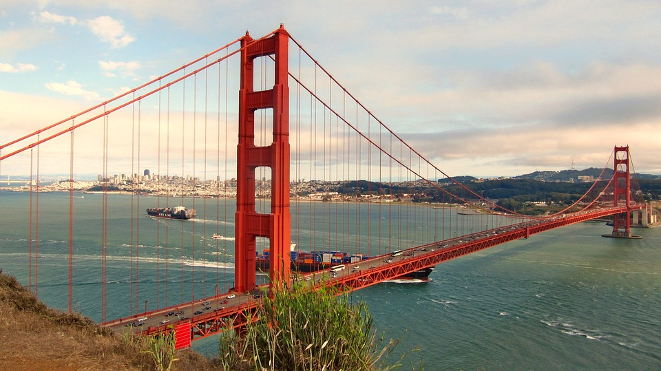 Usa, America, San Francisco, Golden Gate Bridge