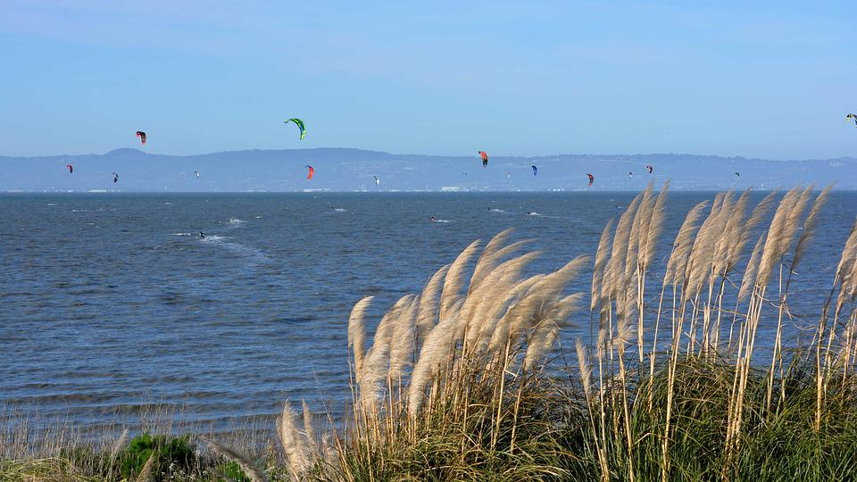 Parasurfing, Paragliding, San Francisco Bay