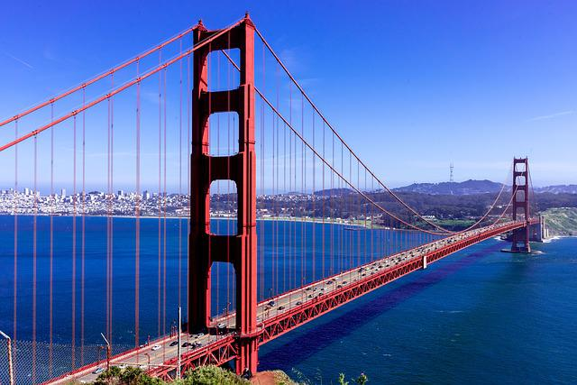 San Francisco, Golden Gate Bridge, Bridge, California