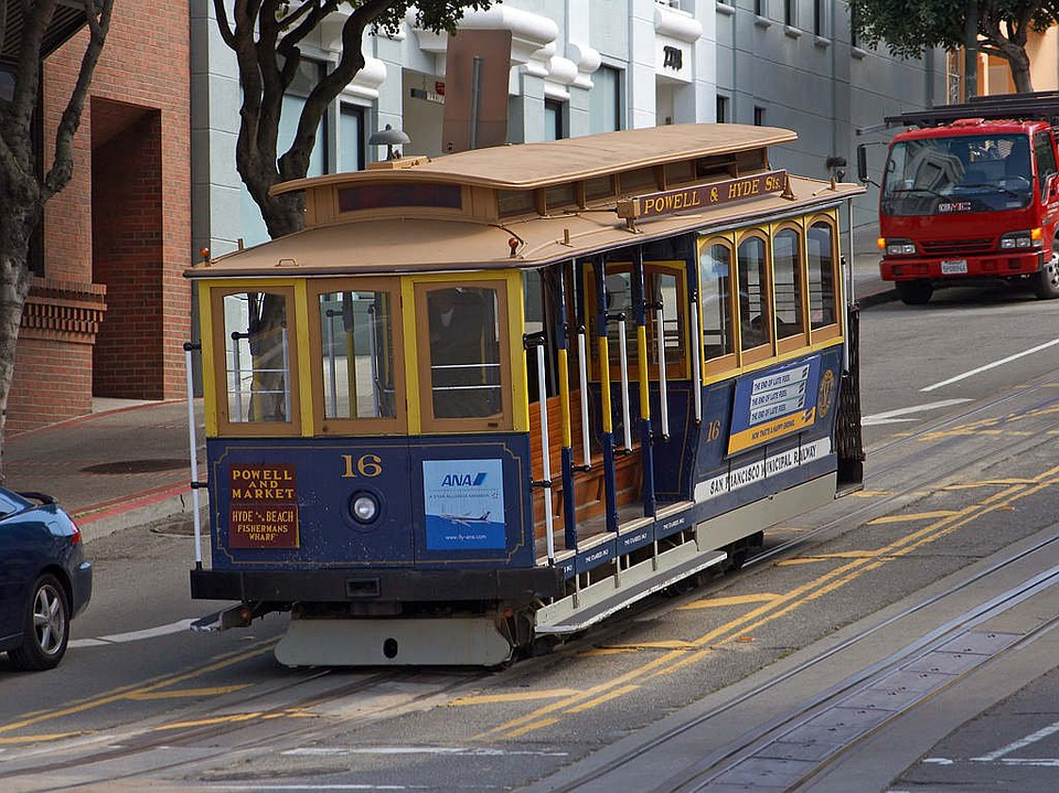 Tram, Cable Car, Seemed, City, San Francisco