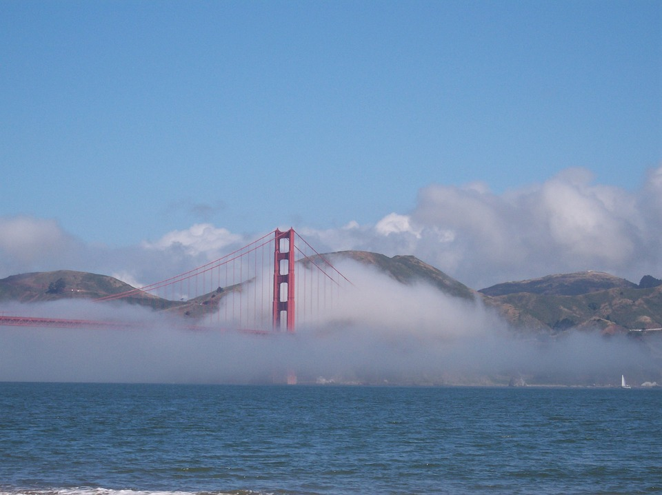 Golden Gate, Fog, San Francisco, Scenic, Travel, City