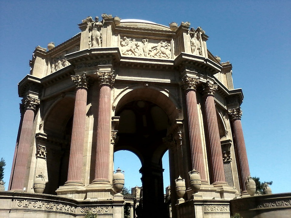 Pillars, Elaborate, Palace Of Fine Arts, San Francisco