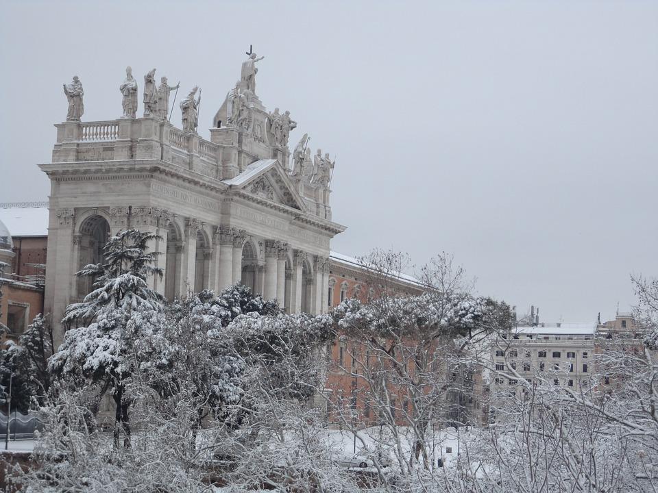 Rome, Snow, San Giovanni