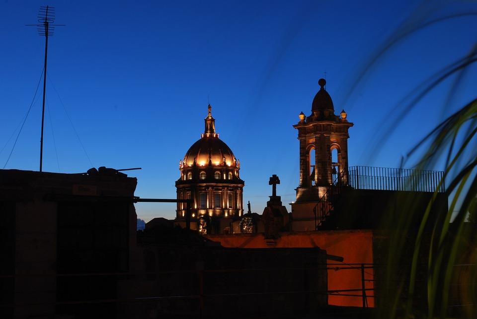 San Miguel De Allende, Mexico, Church, Skyline